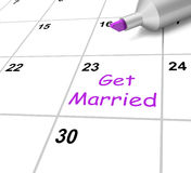 Get Married Calendar Shows Wedding And Spouse Stock Photography
