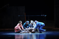 Get matou a ópera de Jiangxi uma balança romana Foto de Stock Royalty Free