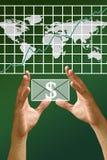 Get money from stock exchange Stock Image