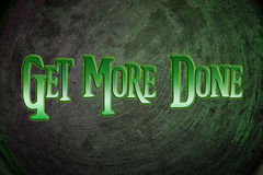 Get More Done Concept Stock Photo