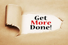 Get More Done. Concept On Torn Paper Royalty Free Stock Photo