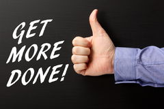 Get More Done! Royalty Free Stock Photography