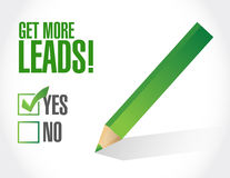 Get More Leads approval check mark Royalty Free Stock Images