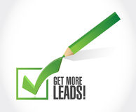 Get More Leads approval check mark sign Stock Image