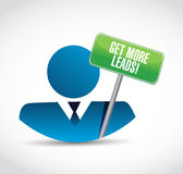 Get More Leads avatar sign illustration Royalty Free Stock Images