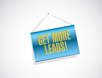 Get More Leads banner sign illustration Royalty Free Stock Photo