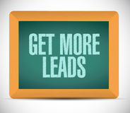 Get More Leads board sign illustration Royalty Free Stock Image