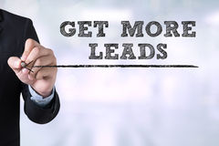 GET MORE LEADS Stock Photography