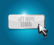 Get More Leads button sign illustration Stock Image