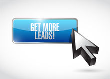 Get More Leads button sign illustration design Royalty Free Stock Photography