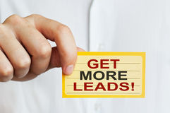 Get more leads! Royalty Free Stock Photography