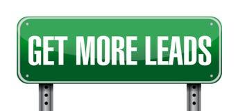 Get More Leads landscape sign illustration Stock Images