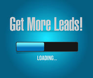 Get More Leads loading bar sign illustration Stock Image
