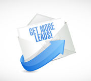 Get More Leads mail sign illustration Royalty Free Stock Images