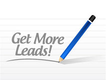 Get More Leads message sign illustration Stock Photography