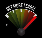 Get More Leads meter sign illustration Royalty Free Stock Photos