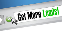 Get More Leads online sign illustration Royalty Free Stock Image
