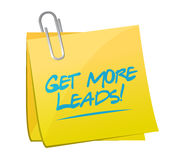 Get More Leads post memo sign illustration Stock Photography
