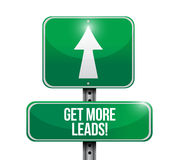 Get More Leads road sign illustration design Royalty Free Stock Photos