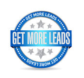 Get More Leads seal sign illustration design Royalty Free Stock Images