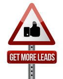 Get More Leads warning like sign illustration Royalty Free Stock Photography