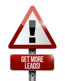 Get More Leads warning sign illustration design Royalty Free Stock Photos