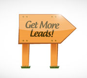 Get More Leads wood sign illustration design Stock Photography