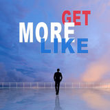 Get More Likes Stock Image