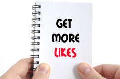 Get more likes text concept Stock Images