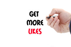 Get more likes text concept Royalty Free Stock Photography