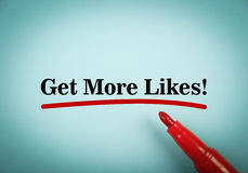 Get more likes Royalty Free Stock Images