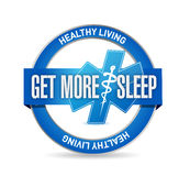 Get more sleep healthy life seal illustration. Design over a white background Royalty Free Stock Images