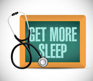 Get more sleep sign on a blackboard. illustration Royalty Free Stock Photos