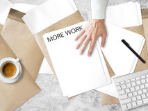 Get more work. Royalty Free Stock Photo