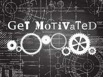 Get Motivated Blackboard Tech Drawing Stock Images
