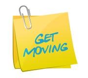 Дизайн иллюстрации столба Get moving Стоковое Изображение RF