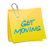 Get moving post illustration design Royalty Free Stock Image