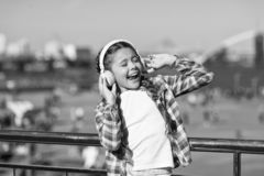 Get music family subscription. Access to millions of songs. Enjoy music everywhere. Best music apps that deserve a. Listen. Girl child listen music outdoors stock photography