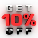 Get 10% off 3D. Get 10% off for typical sellers Stock Illustration