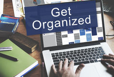 Get Orgaized Management Set Up Organization Plan Concept Stock Photos