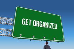 Get organized against blue sky Stock Photo