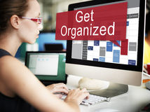 Get Organized Management Set Up Organization Plan Concept Stock Photo