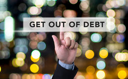 Get Out of Debt concept Stock Images