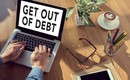 Get Out of Debt concept Royalty Free Stock Image