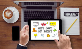 Get Out of Debt concept Royalty Free Stock Photo