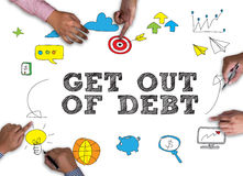 Get Out of Debt concept Royalty Free Stock Photography