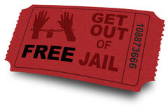Get out of jail ticket Stock Photo