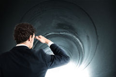 Get out of the tunnel Royalty Free Stock Photo