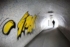 Get out of the tunnel Royalty Free Stock Images