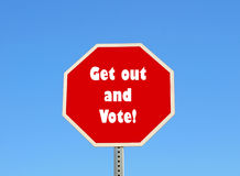 Get out and vote Stock Image